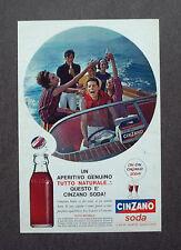 F663- Advertising Pubblicità - 1963 - CINZANO SODA , UN APERITIVO GENUINO