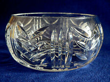 """Waterford Crystal Round Bowl 7"""" Diameter 3 1/4"""" High, Etched"""