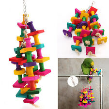 Colorful Bird Parrot  Chew Toy Rope Harness Cage Toys Parakeet Cockatiel Budgie