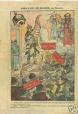 Caricature Pickelhaube Anti Communiste Casque à pointe Moscou 1921 ILLUSTRATION