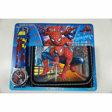 HOT Spiderman Spider-Man Children's Kids Boys Girls Watch Wallet Set Christmas