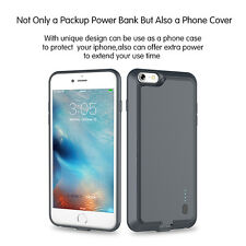New Ultra Slim Power Bank Battery Charging Phone Back Case Cover For iPhone 6 6S