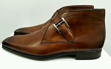Magnanni Raiden Monk Strap Boots - Tobacco Leather - Size: 10.5