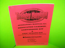 Sammy TROPHY HUNTING BEAR & MOOSE Original 2002 Video Arcade Game Service Manual