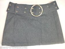 Femmes Bleu indigo Jeans Avec ceinture Mini Jupe 10 UK UE 38