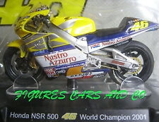 MOTO GP 1/18 HONDA NSR 500 # 46 COLLECTION  ROSSI WORLD CHAMPION 2001