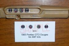 1965 PONTIAC GTO HARDTOP AND CONVERTIBLE GAUGE FACES!! -1/25 scale- for AMT KITS