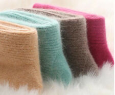 4 Pairs New 100% Pure Wool Cashmere Thicken Warmer Womens Socks Comfortable 5-9