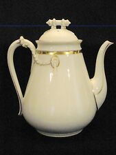 Antique Early Haviland Limoges Porcelain Pear Shape Rope & Ring Tea Coffee Pot