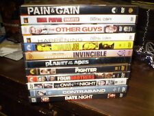 (14) Mark Wahlberg DVD Lot: Pain & Gain Max Payne Other Guys Invincible Fighter