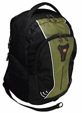 "SwissGear Wenger 16"" Inch Padded Laptop Computer Backpack School Bag Green"