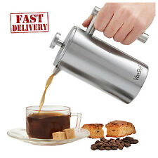 French Press 8 Cup Coffee Maker Double Wall Stainless Steel Brushed Cafetiere