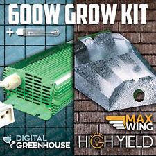 600 WATT HPS DIGITAL GROW LIGHT w/ XL HOOD 600w BALLAST