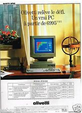 Publicité Advertising 1989 Ordinateur PC Olivetti