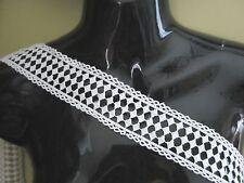 "2"" Checkered DIAMOND Trim Loop edge BTY - WHITE"