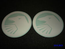 2 AUTHENTIC SHADOW CONSPIRACY BMX WHITE LOGO FRAME STICKERS #8 DECALS AUFKLEBER