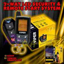 NEW VIPER 5305V 2015 MODEL 2 WAY CAR ALARM AND REMOTE START + VSM350 SMART START