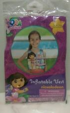 POOL SUMMER DORA EXPLORER INFLATABLE SWIM VEST  // AGES 3+--NEW ITEM-