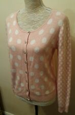Next Ladies Size 12 Pink Polka Dot Button Cardigan Winter Loves Knitwear Knit