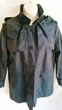 ZARA BASIC Ladies Navy Blue Trench Coat / Raincoat / Jacket - Extra Large XL