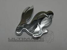 VW CHROME 3D RABBIT GTI BADGE GOLF RETRO MK1 MK2 CLASSIC POLO FOX RETRO CAR DOOR