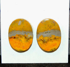BumbleBee Jasper Cabochons 20x15mm from Indonesia 4mm thick set of 2 (10226)