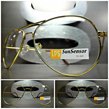 CLASSIC AVIATOR Style SUN GLASSES Gold Frame Transition Lens Darkens in Sunlight