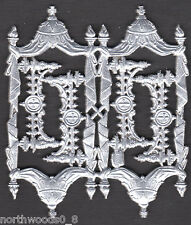 ORNATE SILVER ORNATE SHRINE  ALTAR CHURCH DRAPE CROSS ORNAMENT DRESDEN GERMAN