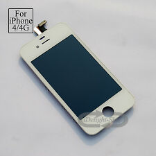 UK Full LCD For iPhone 4 replacement screen Touch Digitizer Assembly White A1332