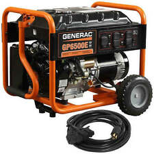 Generac 6515 GP6500E - 6500 Watt Electric Start Portable Generator w/ Conveni...
