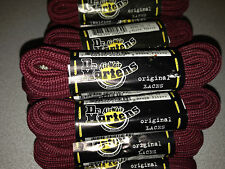 Pair DR MARTENS strong maroon claret, wine cord  LACES 140 cm SHOES BOOT TRAINER