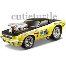 Maisto Muscle Machines 1966 Ford Mustang GT 1:24 Diecast Model Car 35232 Yellow