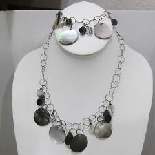 SIGNED EMILY RAY 925 SWAROVSKI  MOTHER OF PEARL NECKLACE BRACELET NWT $306