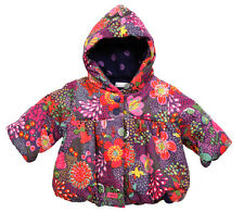 New With Tags Catimini  Girl's Winter Floral Hooded Coat @ Parka@RRP£68 @1M@