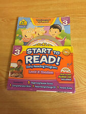 School Zone Start to Read! Early Reading Program Lvl 3 Ages 6-7 5 books Audio CD