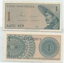 "Indonesia 1 cent  UNC 1964 ""X"" Replacement Banknote Rupiah"