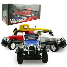 1:24 Vintage Die Cast Classic Model Car Kid Child Pull Back Toy Collection Gift
