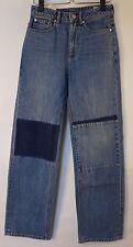 REBECCA TAYLOR La Vie Patched Denim ANAIS Hi Rise Straight Jeans sz 25 $235