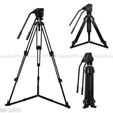 VITUSO Heavy Duty Double Pan Video Camera Tripod Fluid Head 10kg BlackMagic Ursa
