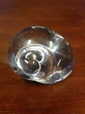 "Vintage Crystal Glass 3"" Tall Snail Paperweight 1# 5.6Oz"