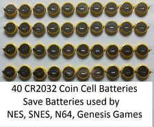 X40 NES, Super Nintendo (SNES), N64, Sega Genesis Save Game Batteries CR2032 Tab