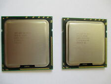 Matched Pair of Two (2) Intel Xeon W5590 Quad-Core 3.33GHz SLBGE CPU Processors