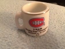NHL STANLEY CUP CRAZY MINI MUG MONTREAL CANADIANS 1968 CHAMPS W/OPPONENT &SCORE