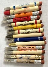 Lot of 14 Vintage Bullet Pencils Stockyards Old Phone Numbers
