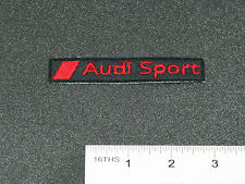 AUDI SPORTS NAME BADGE CAR MOTORCYCLE BIKER RACING BLACK PATCH - MADE IN USA