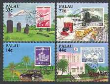 Palau 1987 Trains/Railway/Planes/Aircraft/Horses/Cars/S-on-S 4v set (n23200)