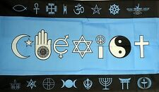 COEXIST CO EXIST world peace religion 5 X 3 FEET FLAG polyester fabric