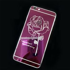 Mirror Effect Sticker Skin Tempered Glass Screen Protector For iPhone 5 6 6Plus