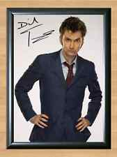 David Tennant Doctor Who TV Show Suit Signed Autographed A4 Print Poster Photo