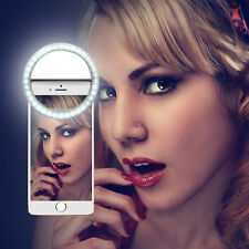 Beauty Selfie LED Smart Ring Flash Fill Light Clip Camera For Phone Samsung HTC